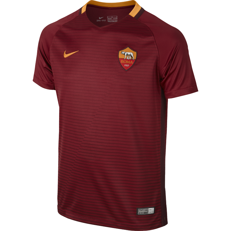 Maillot junior AS Roma rouge 2016 - 2017