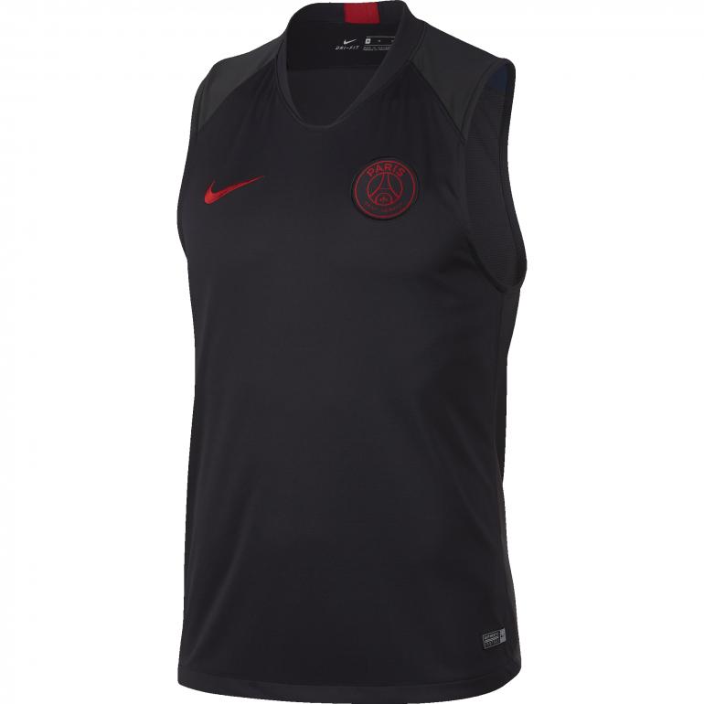 Maillot entraînement sans manches PSG noir rouge 2019/20