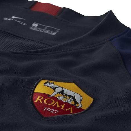 Maillot entraînement AS Roma noir bleu 2019/20