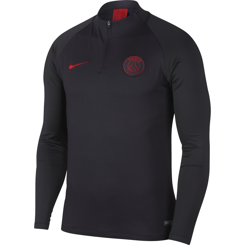 Sweat zippé PSG noir rouge 201920