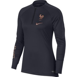 Sweat zippé Femme Equipe de France bleu or 2019