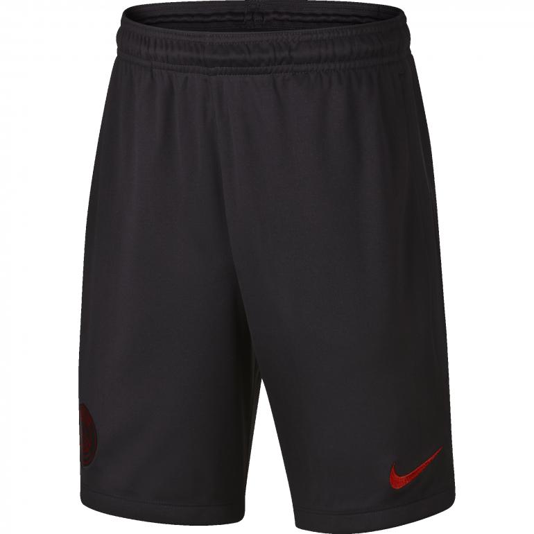 Short entraînement PSG junior noir rouge 2019/20