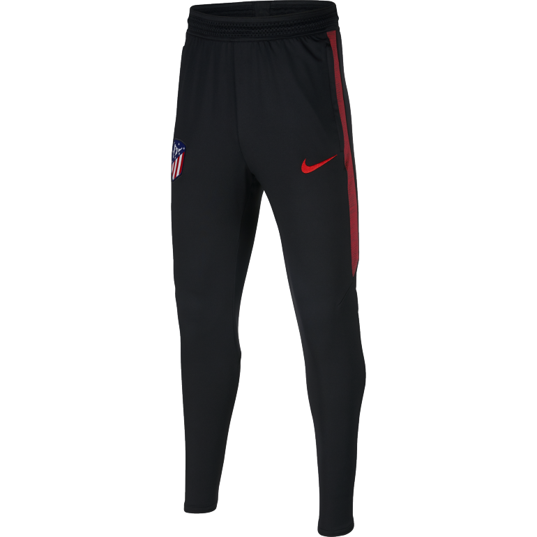 Pantalon survêtement junior Atlético Madrid noir rouge 2019/20