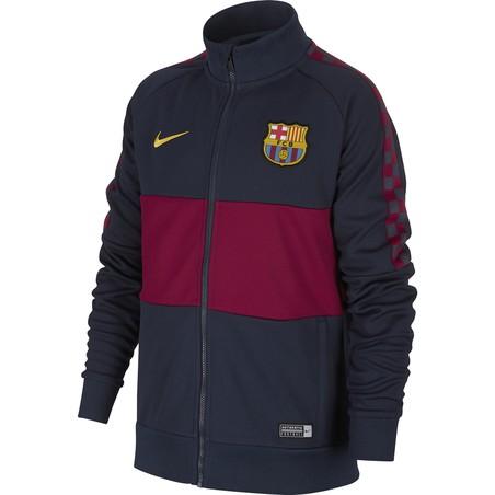 Veste survêtement junior FC Barcelone I96 bleu rouge 2019/20