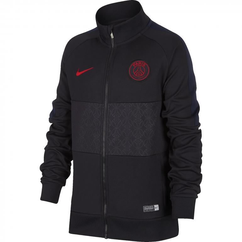 Veste survêtement junior PSG I96 noir rouge 2019/20