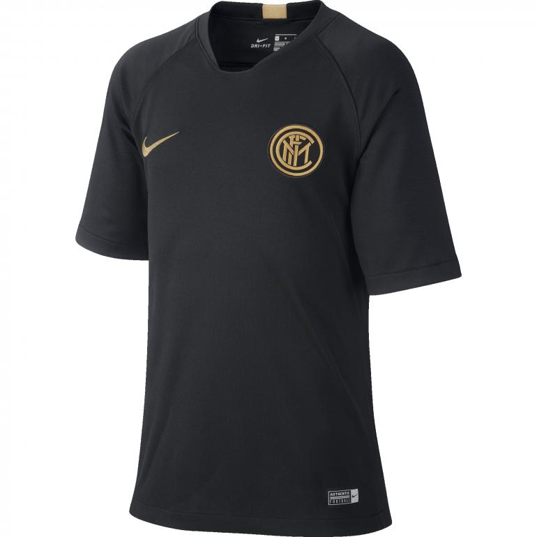 Maillot entraînement junior Inter Milan noir or 2019/20
