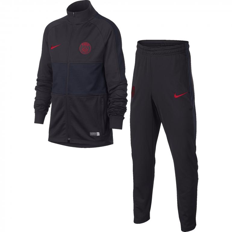 profiter de la livraison gratuite belle et charmante recherche d'authentique Ensemble survêtement junior PSG noir rouge 2019/20