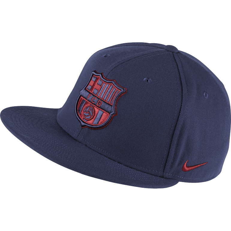 Casquette visière plate FC Barcelone bleu et rouge