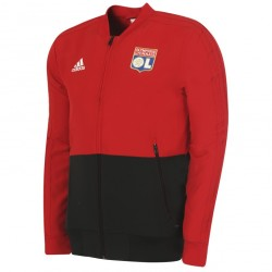 Veste survêtement junior OL rouge 2018/19