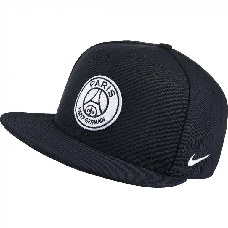 Casquette PSG visière plate noire et grise