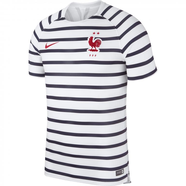 Maillot entraînement Equipe de France marinière 2 étoiles 2018