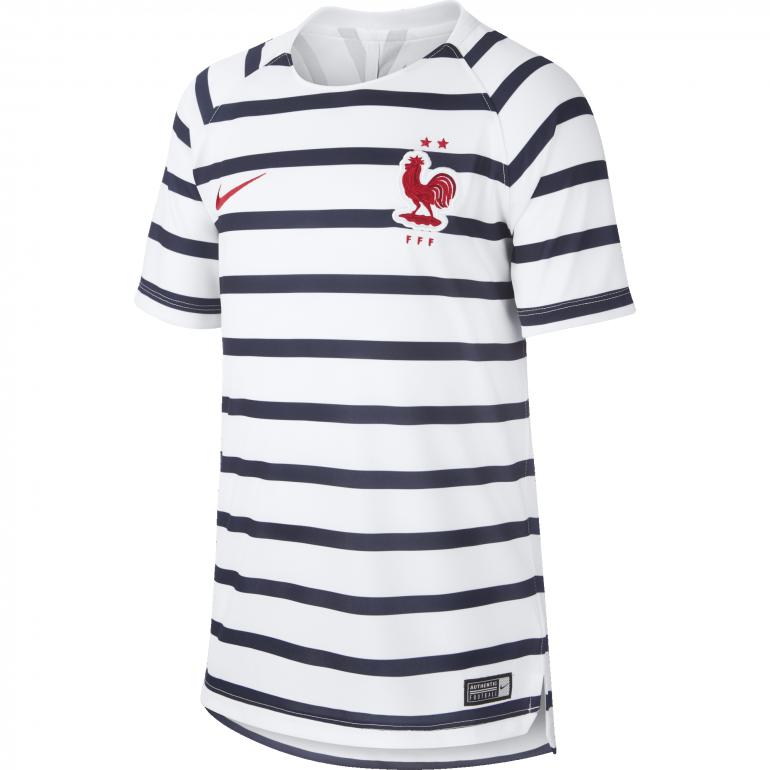 Maillot entraînement junior Equipe de France marinière 2 étoiles 2018