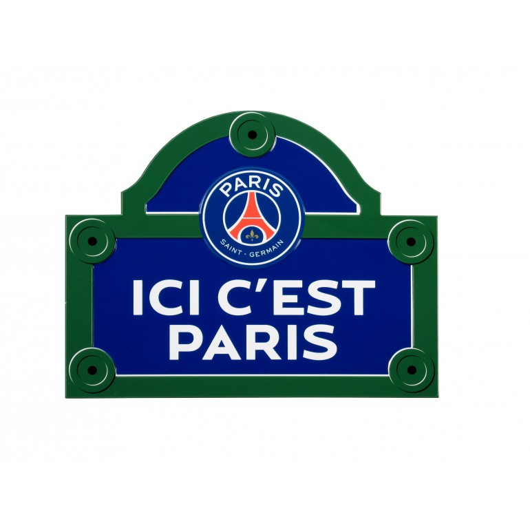 Plaque de rue PSG Ici c'est Paris