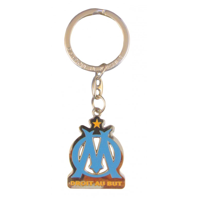 Porte-clefs metal logo OM