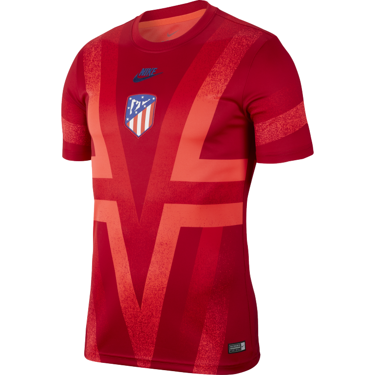 Maillot avant match Atlético Madrid rouge 2019/20