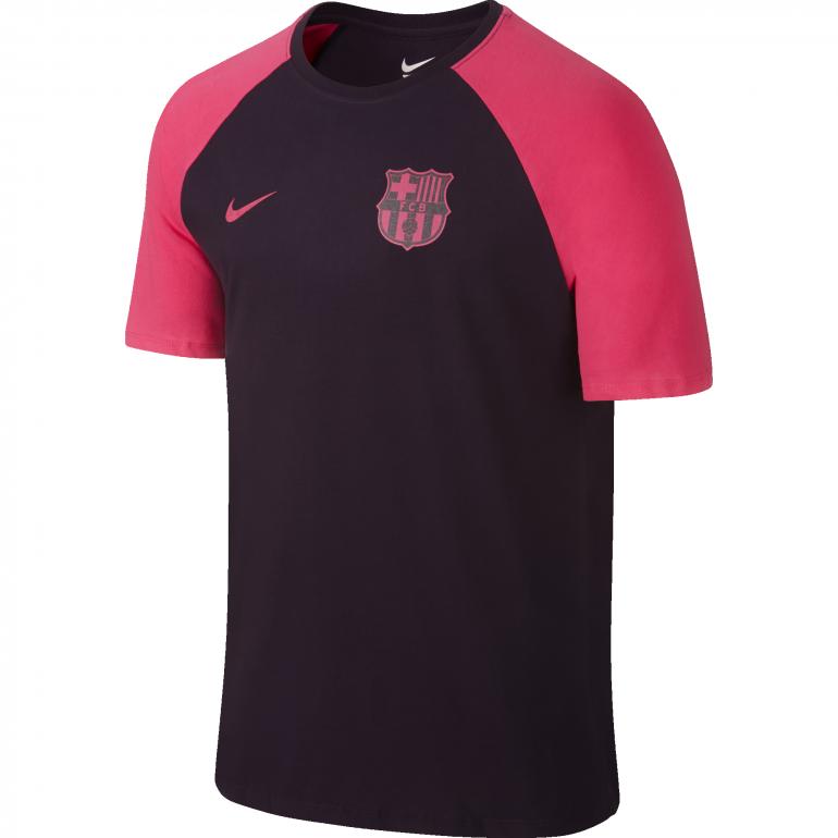 T-shirt FC Barcelone violet et rose 2016 - 2017