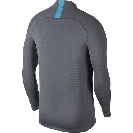 Sweat zippé Tottenham VaporKnit gris bleu 2019/20