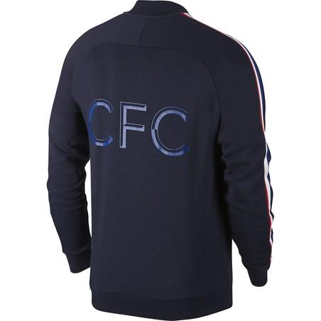 Veste survêtement Chelsea Fleece bleu foncé 2019/20