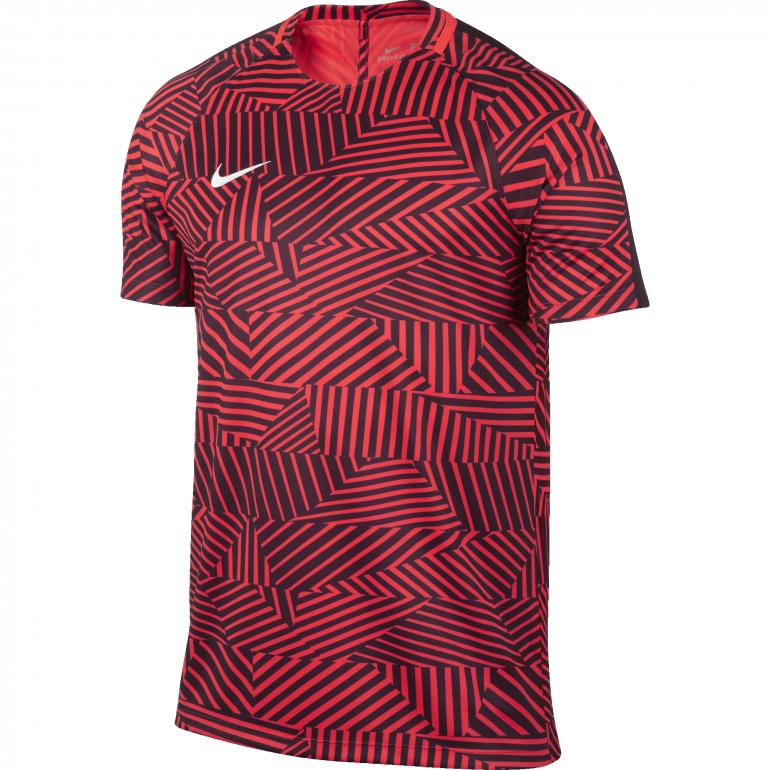 Maillot entraînement Foot Nike rouge
