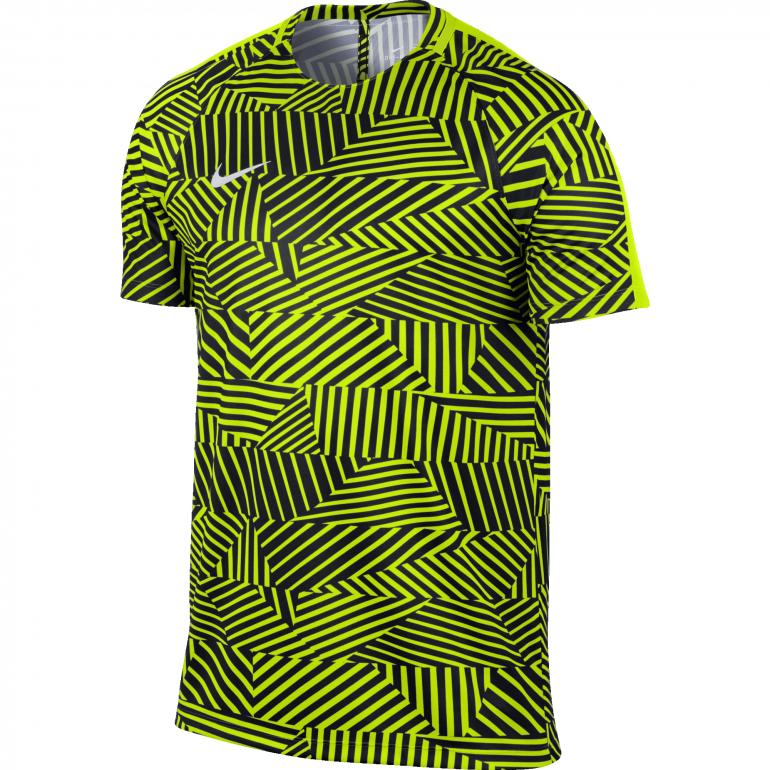 Maillot entraînement Foot Nike jaune et noir
