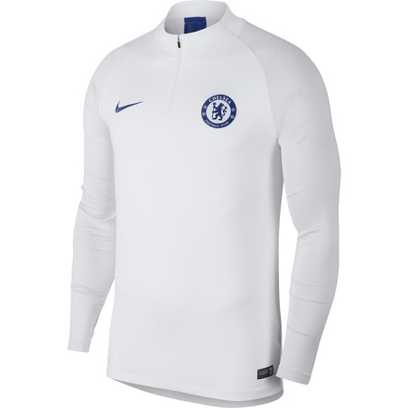 Sweat zippé Chelsea blanc 2019/20