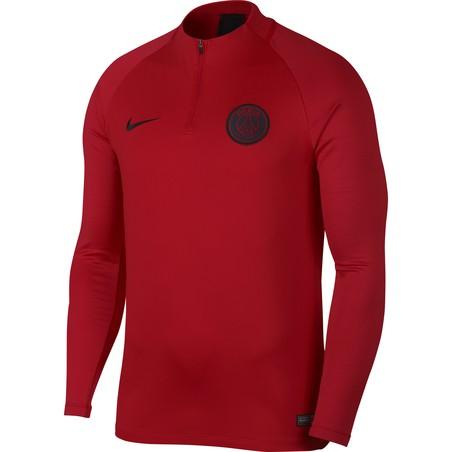 Sweat zippé PSG rouge 2019/20