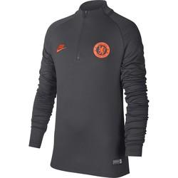Sweat zippé junior Chelsea noir orange 2019/20