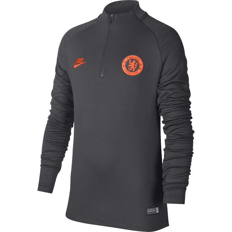 Sweat zippé junior Chelsea noir orange 2019/20