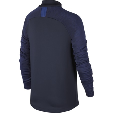 Sweat zippé junior Chelsea noir bleu 2019/20