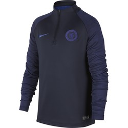 Sweat zippé junior Chelsea noir bleu 2019/20