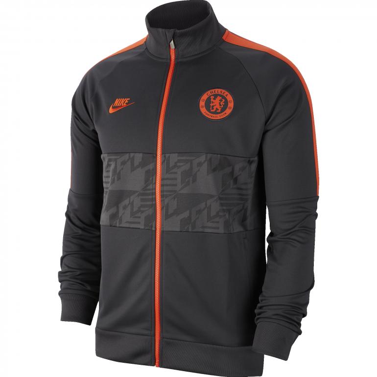 Veste survêtement Chelsea I96 noir orange 2019/20