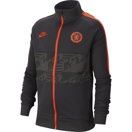 Veste survêtement junior Chelsea I96 noir orange 2019/20