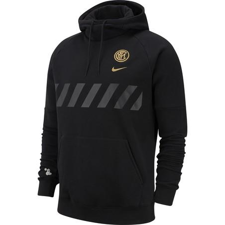 Sweat à capuche Inter Milan noir or 2019/20