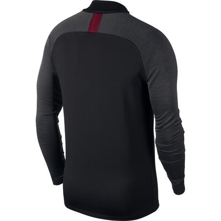 Sweat zippé AS Roma noir rouge 2019/20