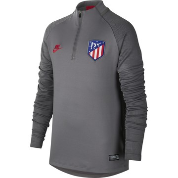 Sweat zippé junior Atlético Madrid gris rouge 2019/20