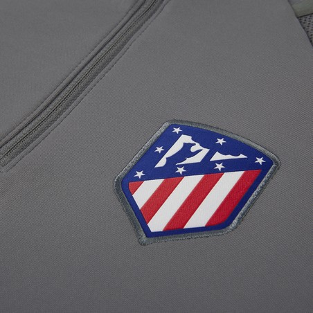 Sweat zippé junior Atlético Madrid gris rouge 2019/20