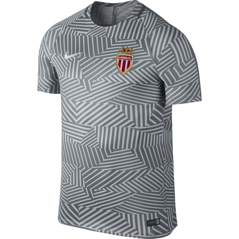 Maillot Avant Match AS Monaco gris 2016 - 2017