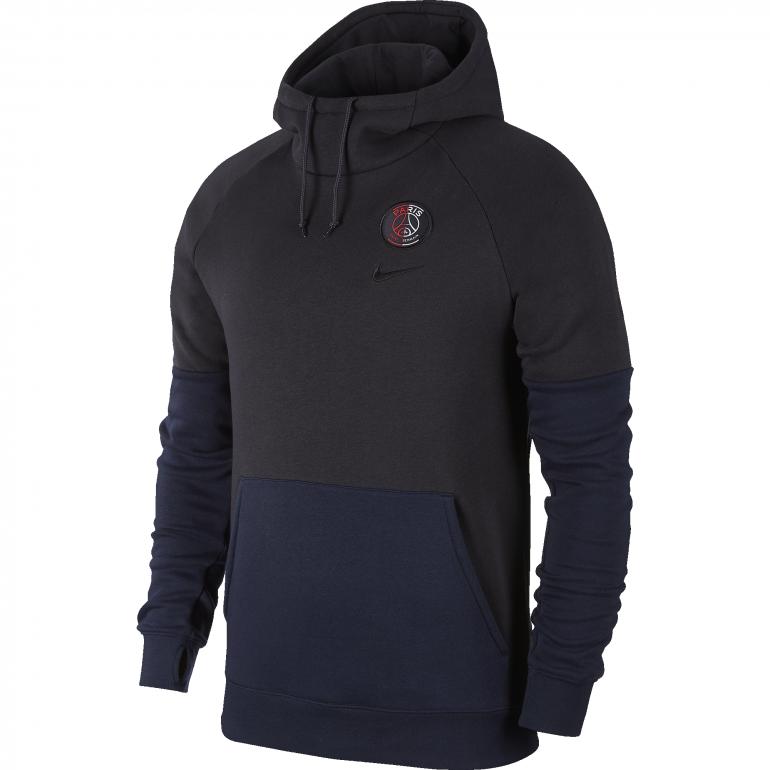 Sweat à capuche PSG noir bleu 2019/20
