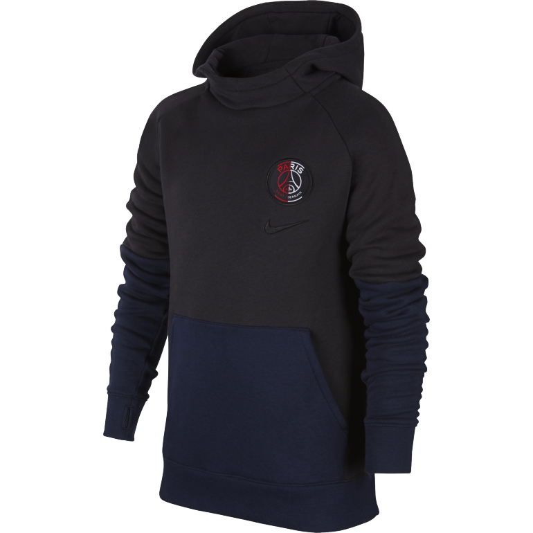 Sweat à capuche junior PSG noir bleu 2019/20