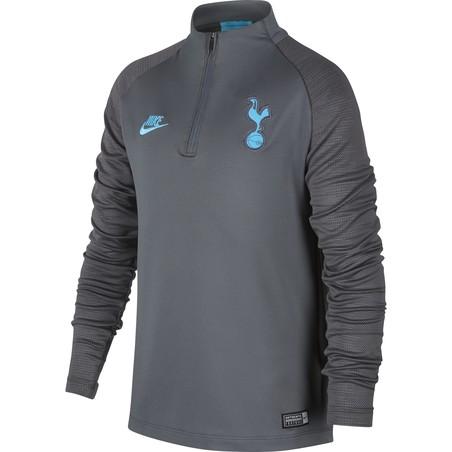 Sweat zippé junior Tottenham gris bleu 2019/20