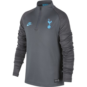 Sweat zippé junior Tottenham gris bleu 2019/20