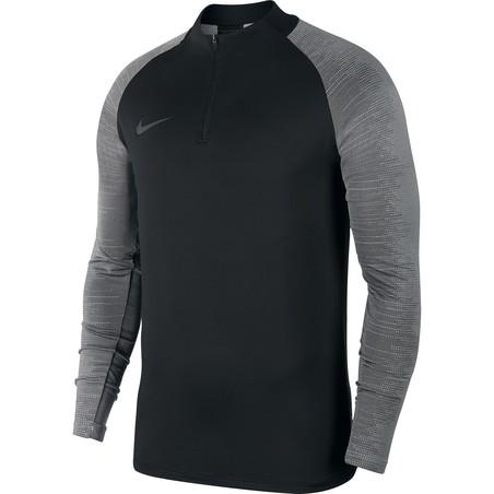 Sweat zippé Nike strike noir gris 2019/20