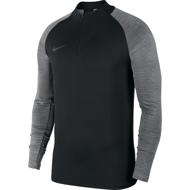Sweat zippé Nike strike noir gris 2019/20