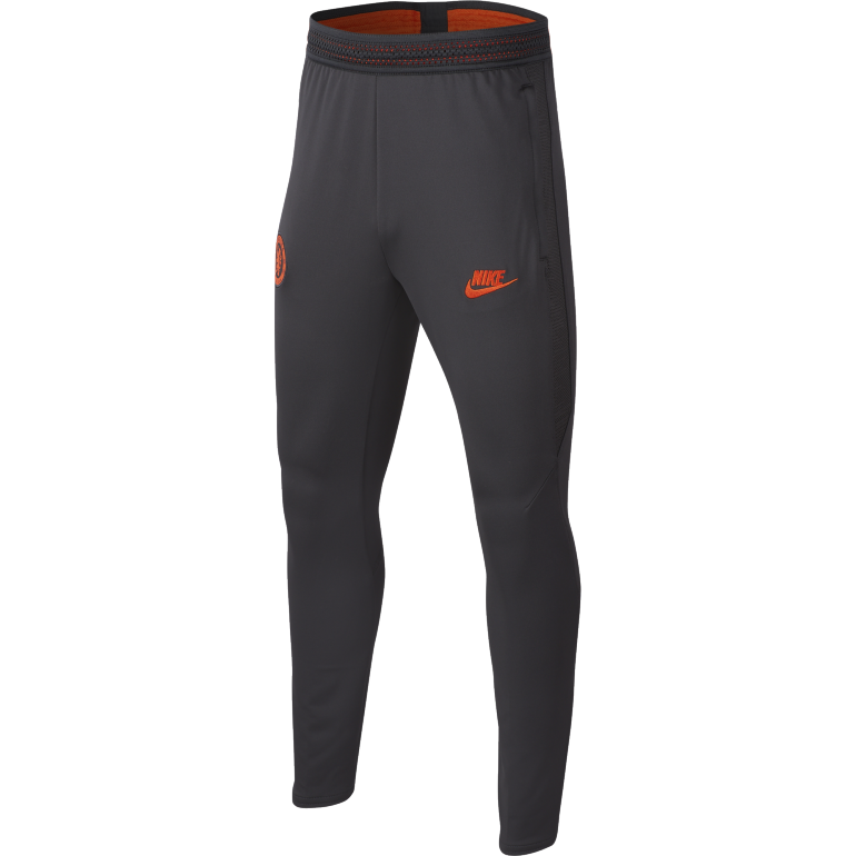 Pantalont survêtement junior Chelsea noir orange 2019/20