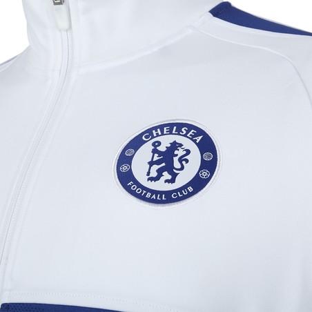 Veste survêtement Chelsea Strike blanc bleu 2019/20