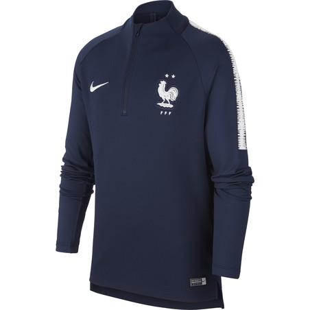 Sweat zippé junior Equipe de France 2 étoiles bleu 2018