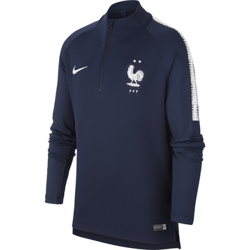 Sweat zippé junior Equipe de France 2 étoiles bleu 2018