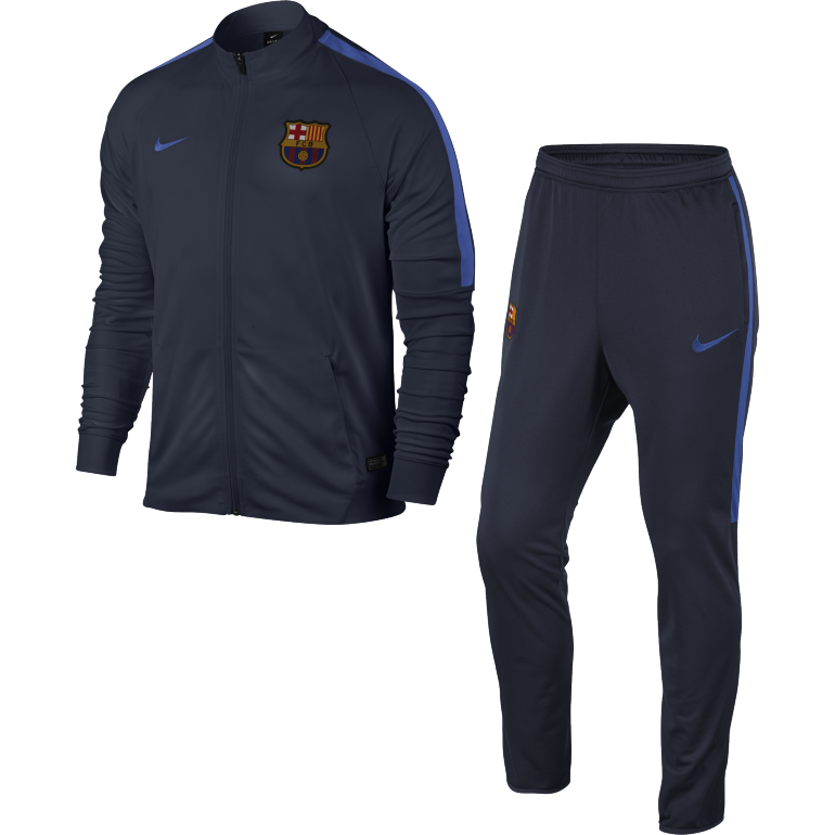 Ensemble Survêtement FC Barcelone total bleu 2016 - 2017