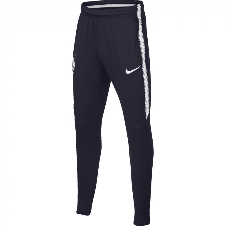 Pantalon survêtement junior Equipe de France 2 étoiles bleu 2018