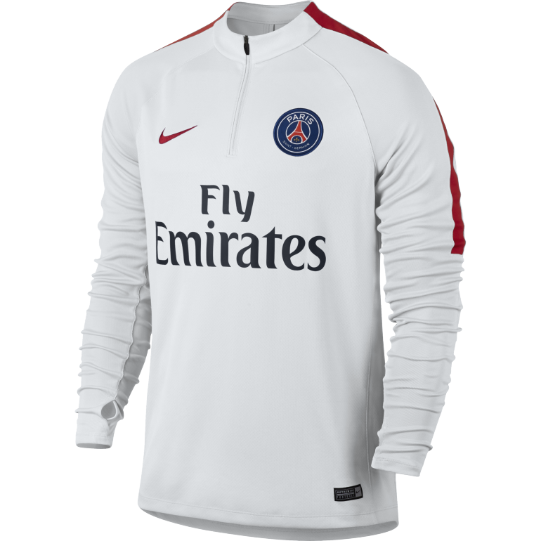 Sweat Zippé PSG blanc 2016 - 2017